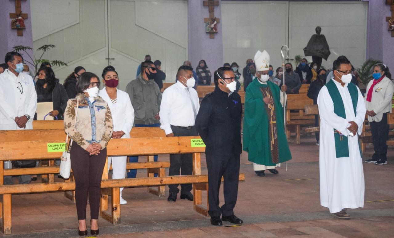OFRECEN MISA EN HONOR A FALLECIDOS POR COVID-19 EN VALLE DE CHALCO
