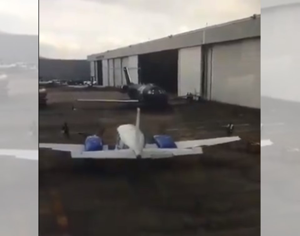 VIDEO: TRASCIENDE CHOQUE DE AVIONETA EN EL AIT