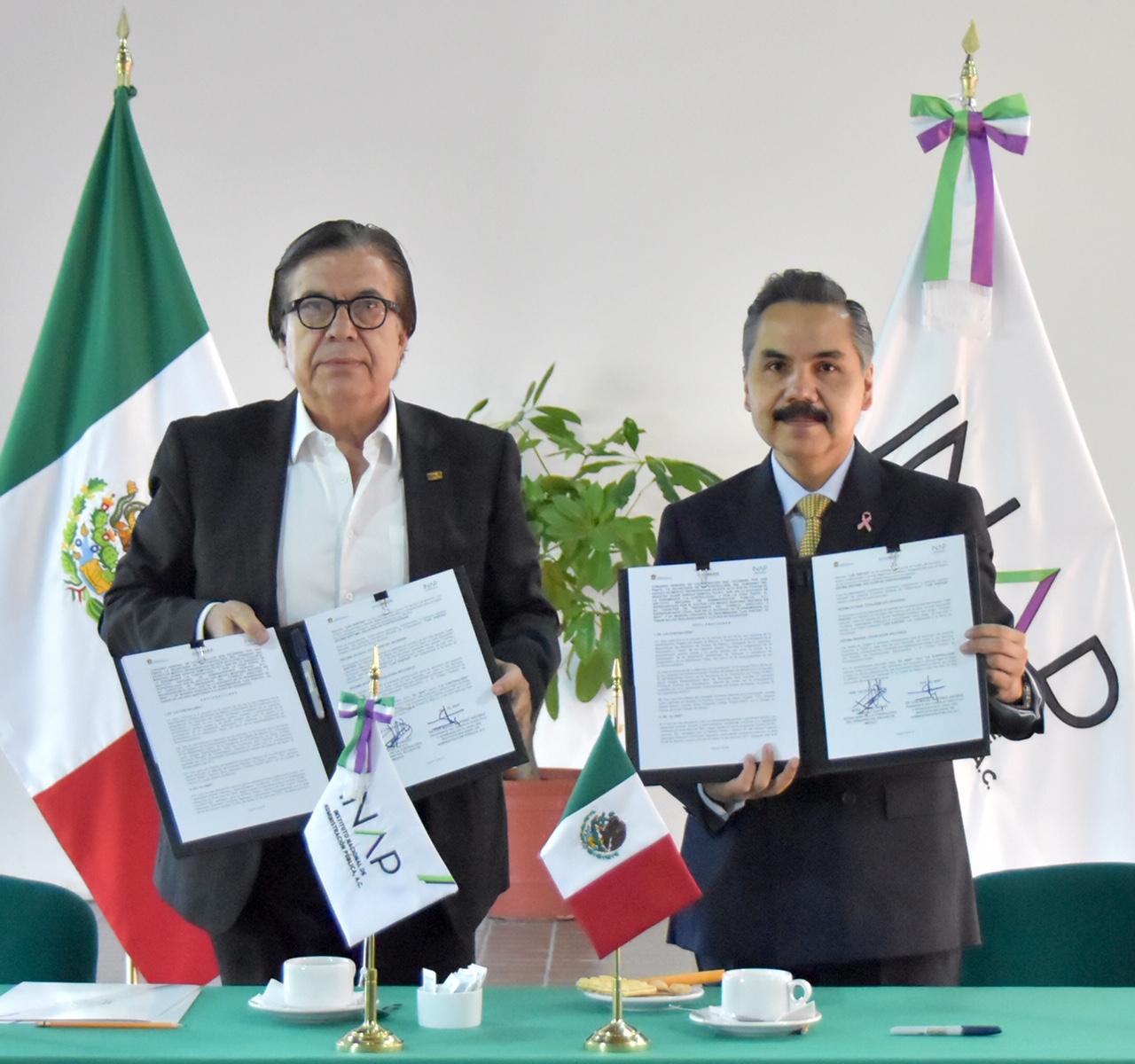 FIRMAN CONVENIO SECOGEM E INAP EN BENEFICIO DE LOS SERVIDORES PÚBLICOS