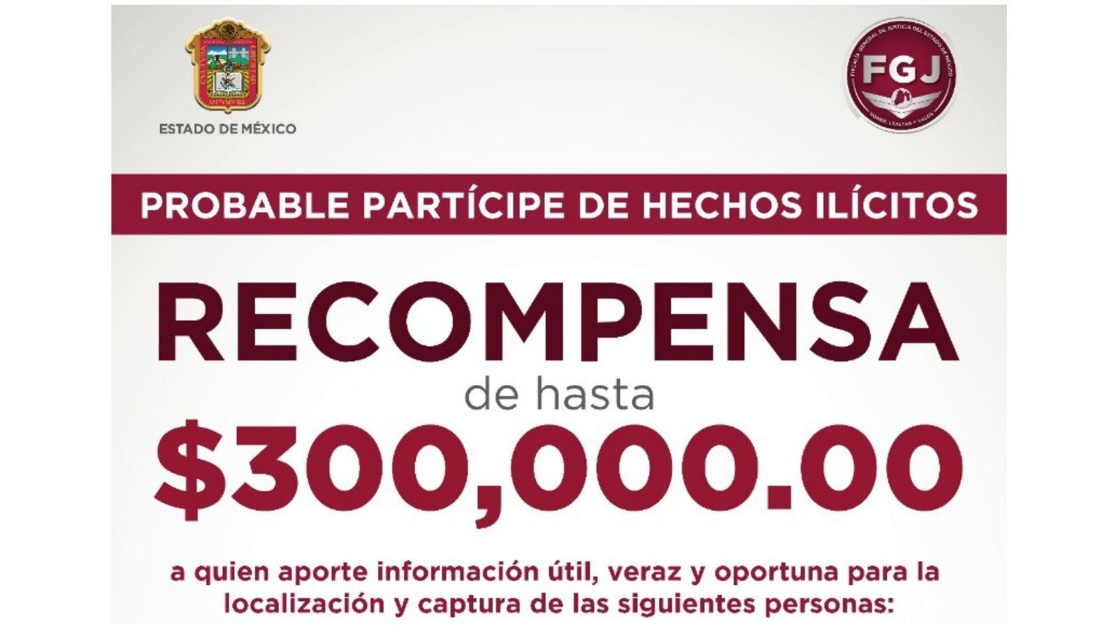 ¿LOS HAS VISTO? OFRECEN RECOMPENSA DE HASTA 300 MIL PESOS PARA LOCALIZAR A ESTAS PERSONAS