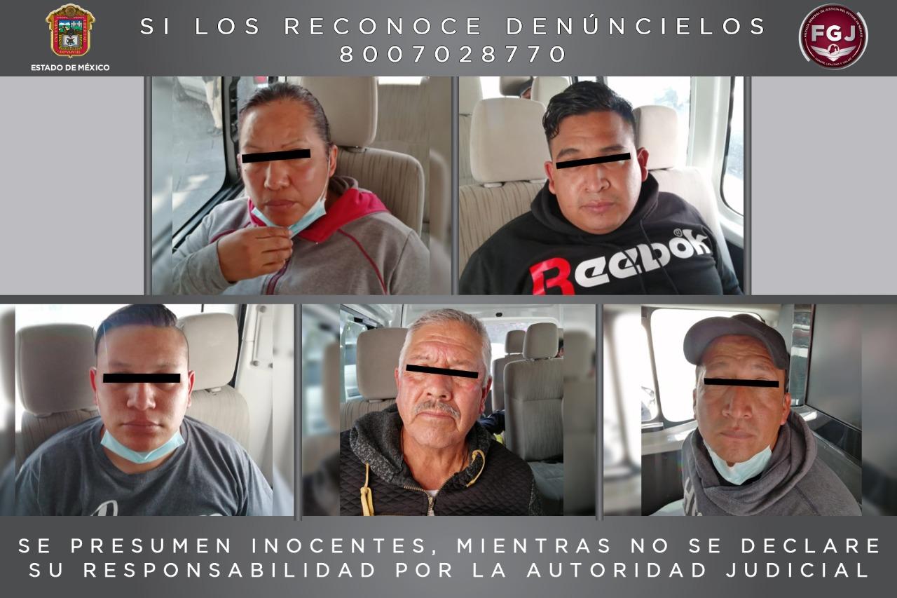 ASEGURAN A CINCO ELEMENTOS DE LA POLICÍA MUNICIPAL POR EL DELITO DE SECUESTRO EXPRÉS