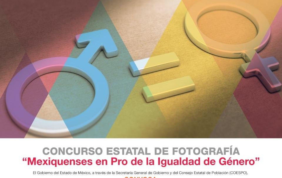 INVITAN A PARTICIPAR EN EL CONCURSO ESTATAL DE FOTOGRAFÍA EN PRO DE LA IGUALDAD DE GÉNERO