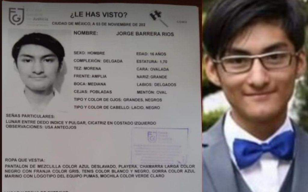 LOCALIZAN CON VIDA A JORGE BARRERA ESTUDIANTE DE PREPA 5 DESAPARECIDO TRAS UNA BROMA
