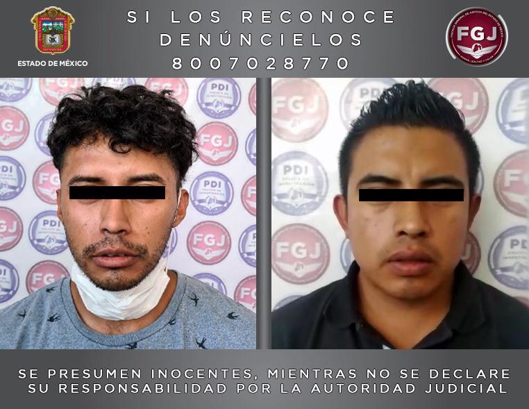 ASEGURAN A DOS PERSONAS INVESTIGADAS POR EL DELITO DE ROBO CON VIOLENCIA