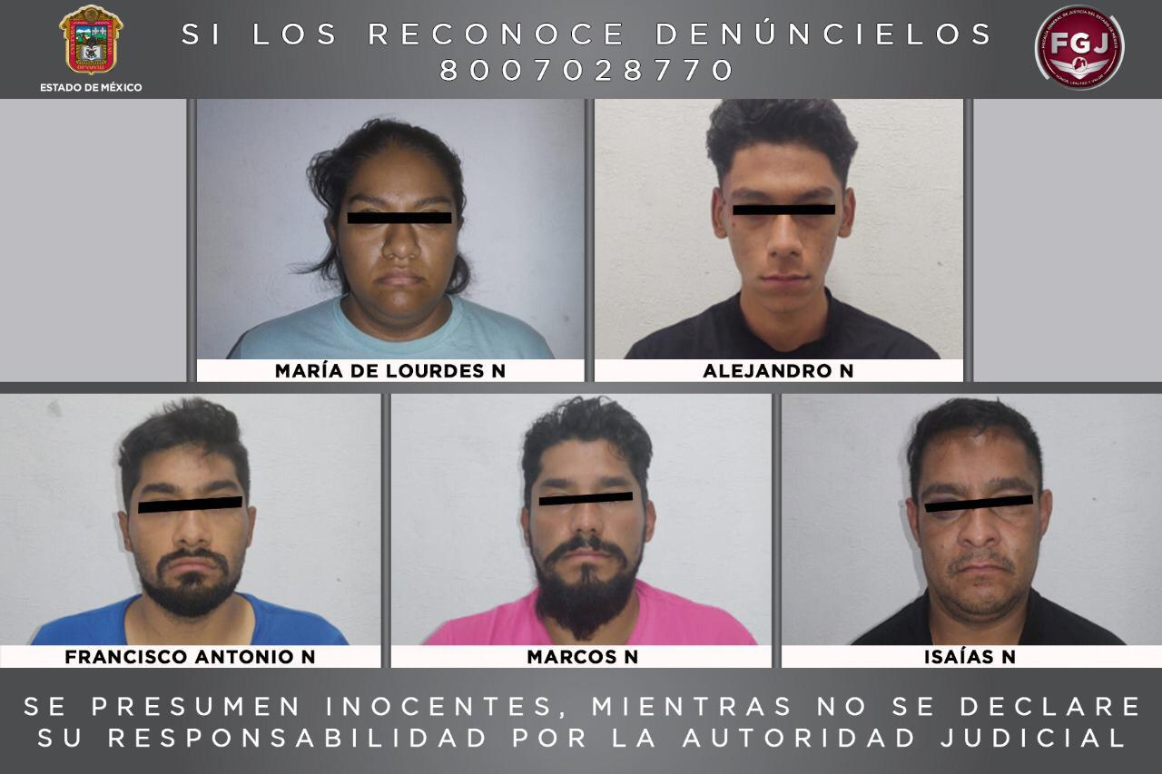 FGJEM DETIENE A 5 PERSONAS INVESTIGADAS POR HOMICIDIO
