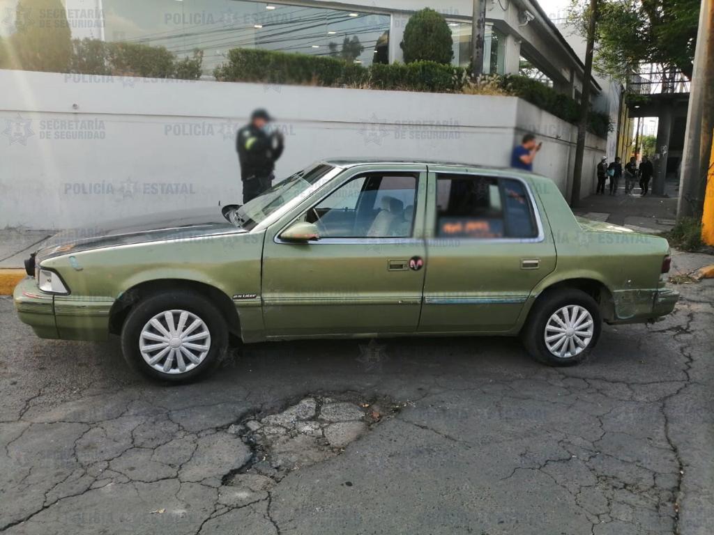 SECRETARÍA DE SEGURIDAD RECUPERA UN AUTOMÓVIL CON REPORTE DE ROBO