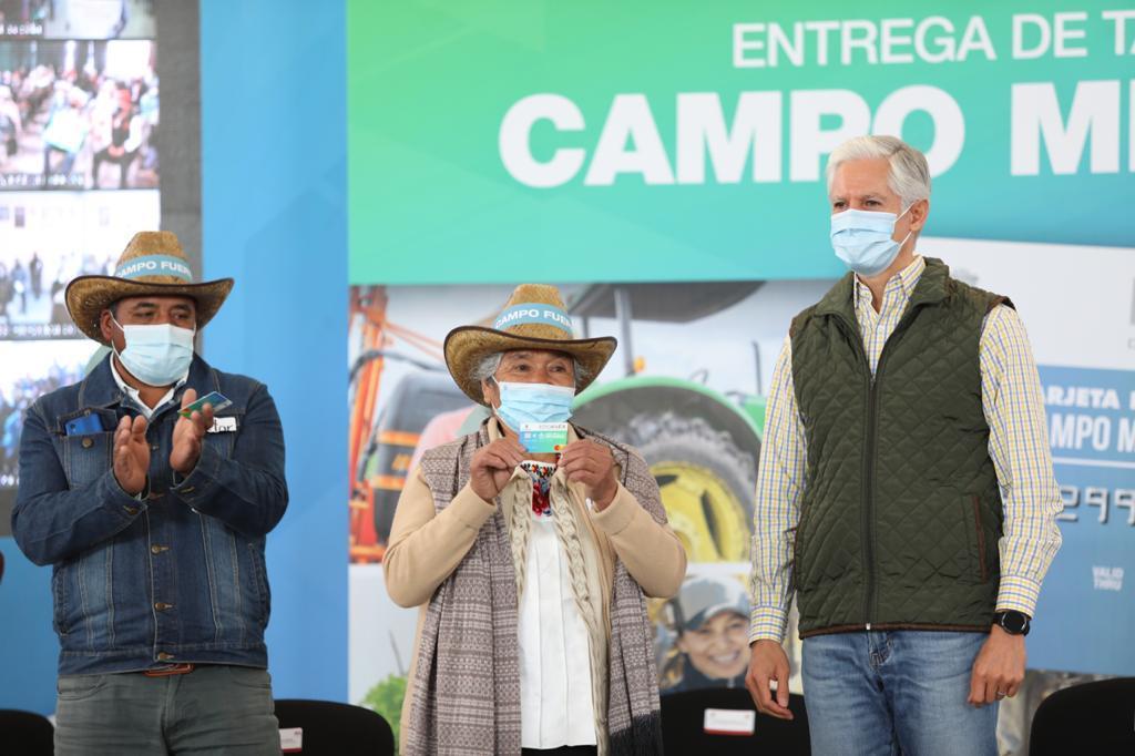 ALFREDO DEL MAZO ARRANCA PROGRAMA DE TARJETAS PARA EL CAMPO MEXIQUENSE