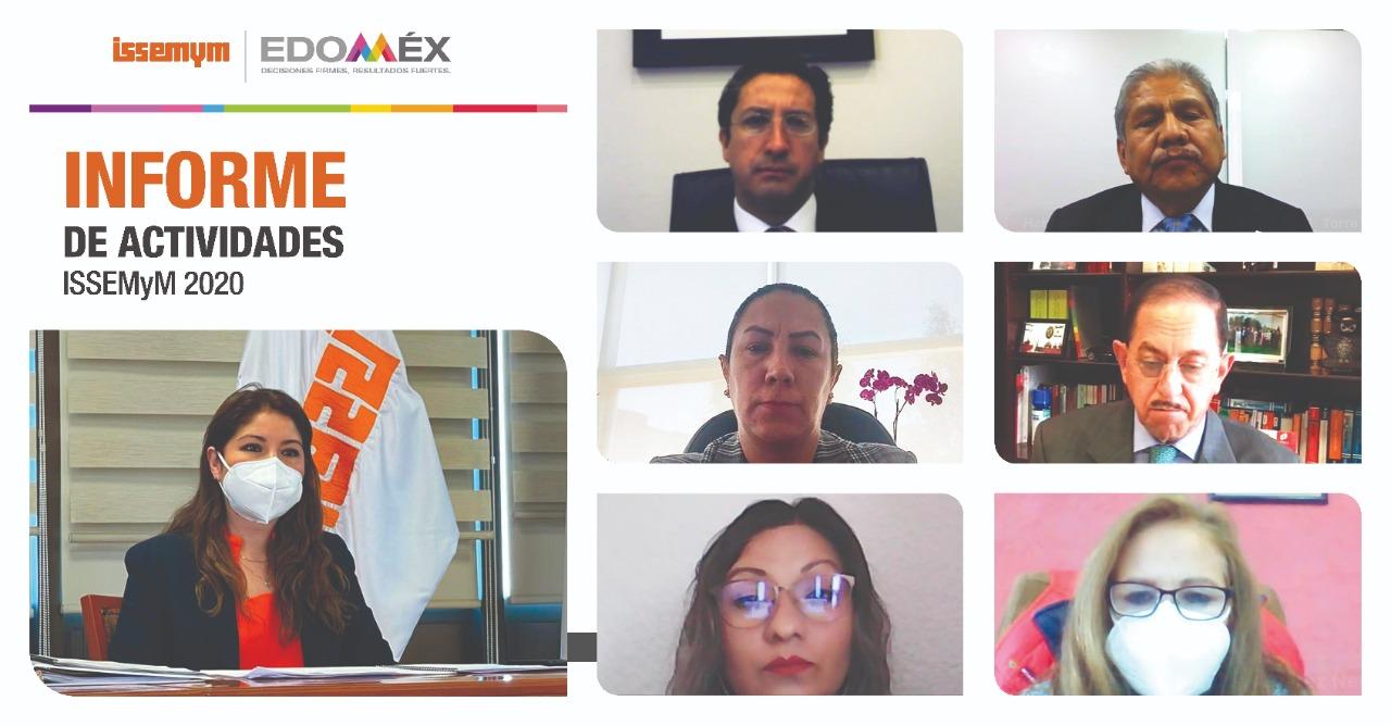 DESCTACA ISSEMYM ATENCIÓN A LA PANDEMIA EN SU BALANCE DE ACCIONES 2020