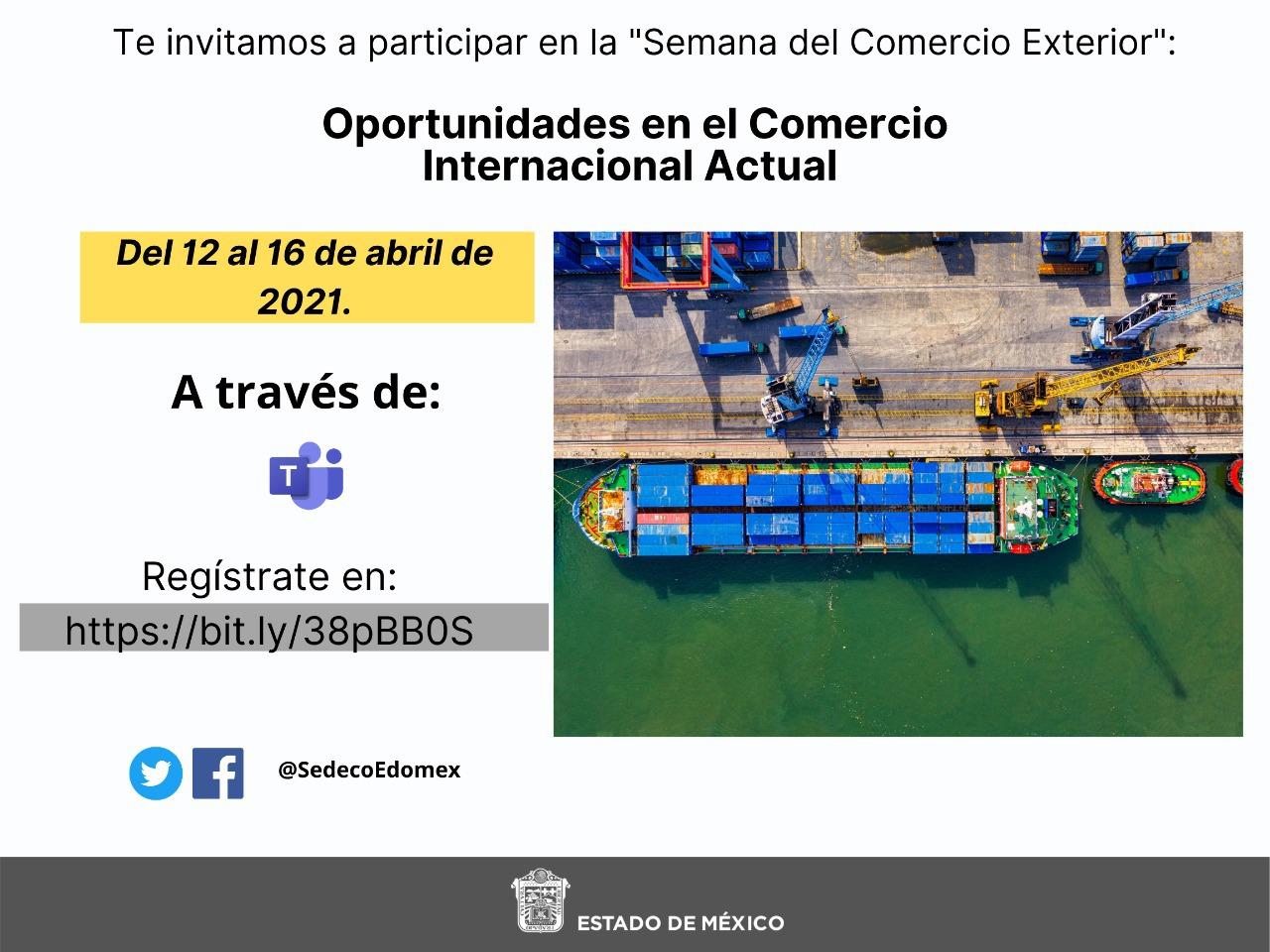 ESTOS SERÁN LOS TEMAS DE LA SEMANA DEL COMERCIO EXTERIOR, ¡PARTICIPA!