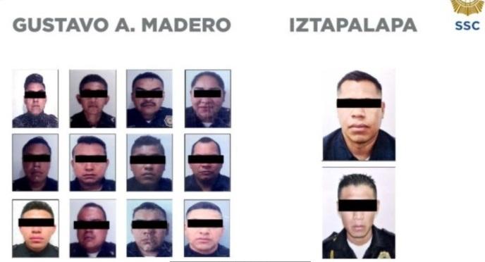 DETIENEN A 14 POLICÍAS DE LA CDMX POR LOS DELITOS DE EXTORSIÓN Y ROBO