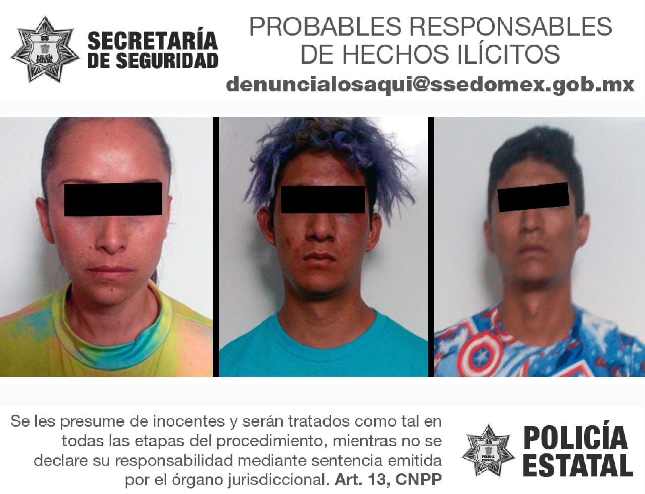TRAS PERSECUCIÓN CAEN TRES POSIBLES RESPONSABLES DEL ROBO DE VEHÍCULO CON VIOLENCIA