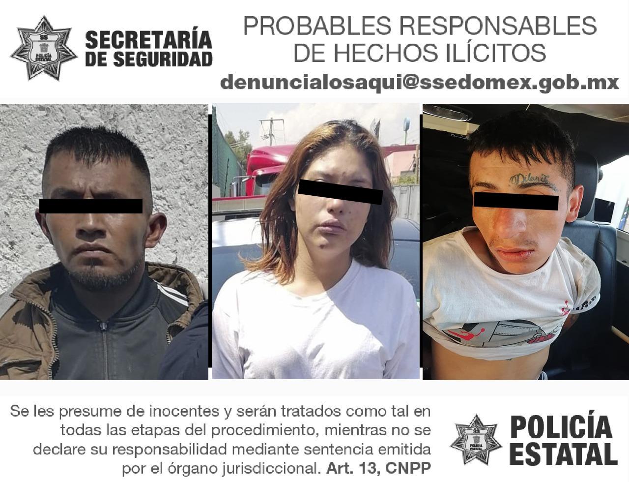 TRAS PERSECUCIÓN LOCALIZAN VEHÍCULO CON REPORTE DE ROBO; DETIENEN A CUATRO