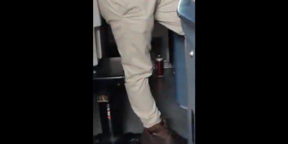 VIDEO: CAPTAN A OPERADOR DEL METRO CON LATAS DE CERVEZA