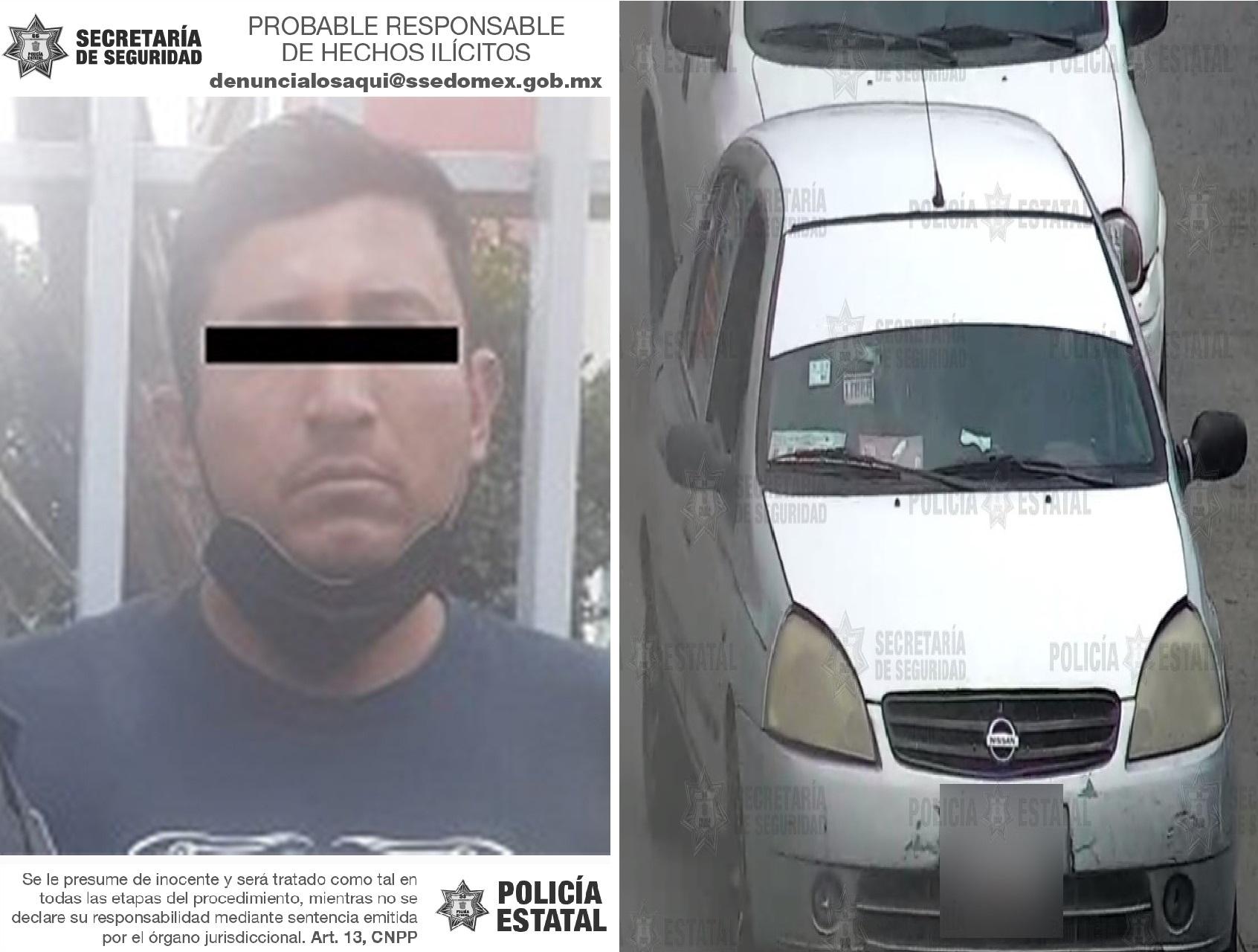 RECUPERAN UN VEHÍCULO CON REPORTE DE ROBO EN ECATEPEC