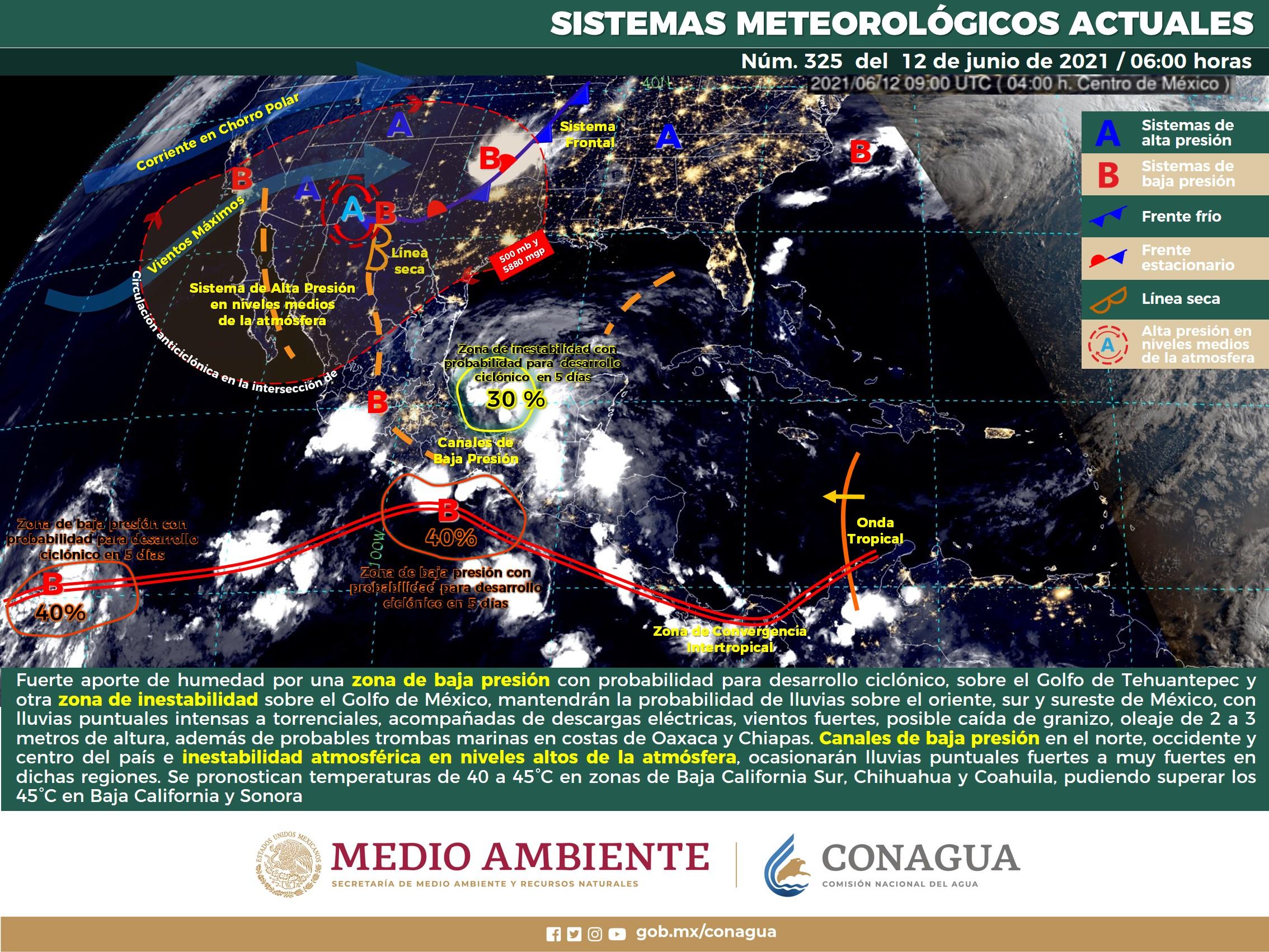 CONTINUARÁ EL TEMPORAL DE LLUVIAS INTENSAS A TORRENCIALES