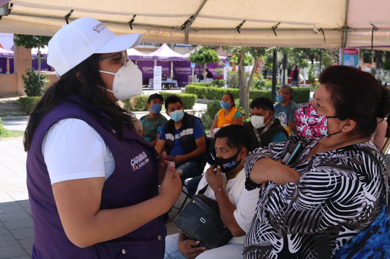 RETOMAN ACTIVIDADES PRESENCIALES CARAVANAS POR LA JUSTICIA COTIDIANA